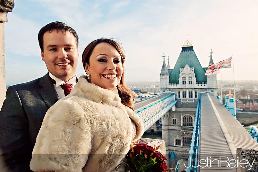 Wedding Photographer London : Tower Bridge : Lindsay and Dean