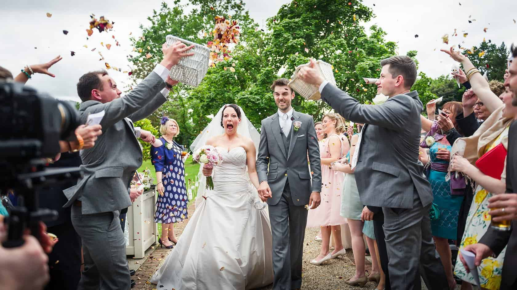 Documentary-Wedding-Photography-Justin-Bailey-Confetti-With-Funny-Faces